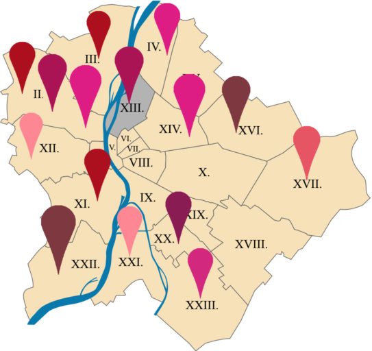 Budapest térképuj